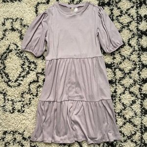 H&M DIVIDED Pale Lavender Tiered Dress XS